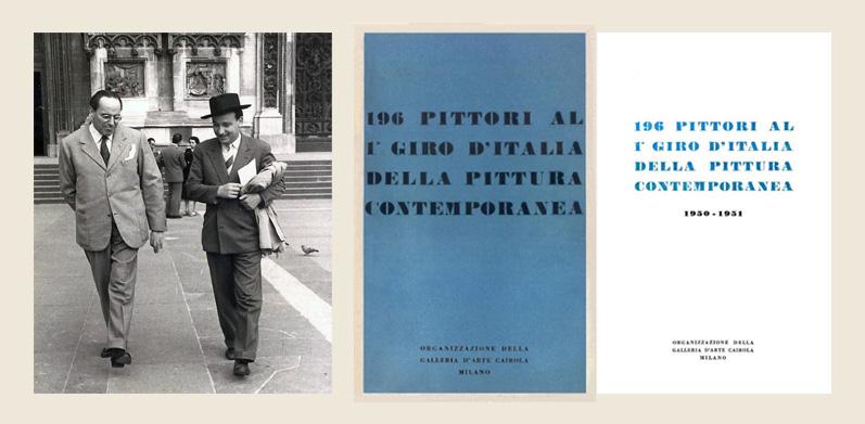Giuseppe Micieli con Stefano Cairola nel 1951 a Milano