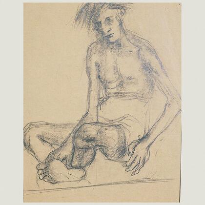 """""""Senza titolo"""" 1945 matita su carta cm 31 X 24"""