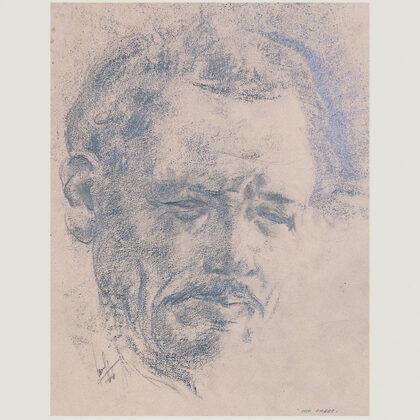 """Mio padre"" 1944 carboncino su carta cm 24 X 19"
