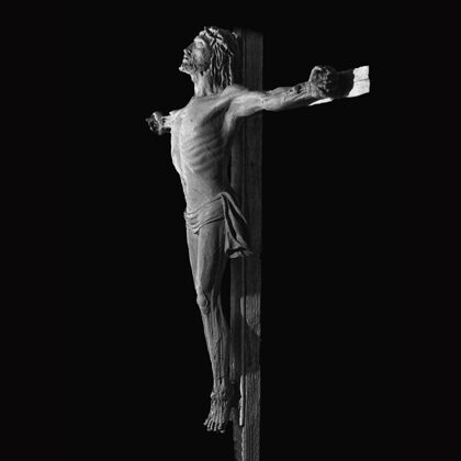 """Crocifisso"" 1982 bronzo cm180 x 170 Chiesa SS. Rosario Vittoria (RG)"