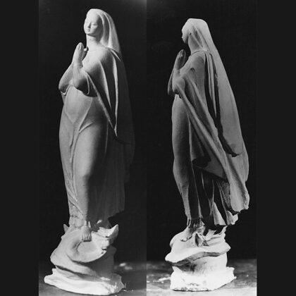 """""""Bozzetto per statua Madonna Immacolata"""", 1954, gesso"""