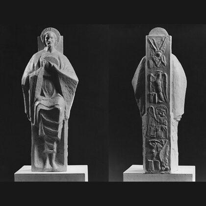 """Sacro Cuore"" 1967 Terracotta cm 50 x 18 x 16"