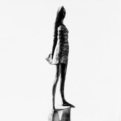 """""""Bozzetto per Alba"""" 1975 Bronzo cm 45 x 10 x 8"""