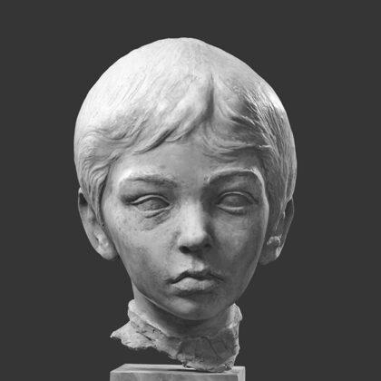 """""""Di Matteo a""""1969, terracotta, al naturale"""