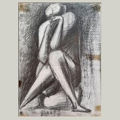 """Studio per cornamusa"" 1950, matita su carta"