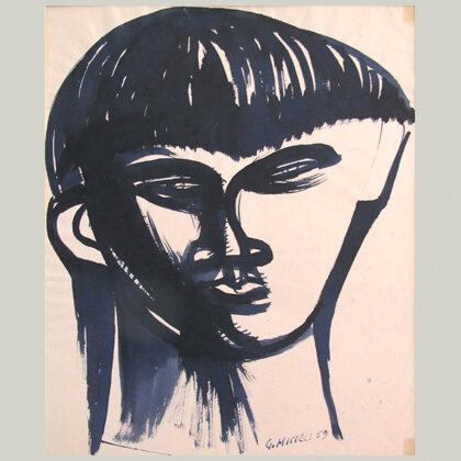 """""""Testa"""" 1959, china a pennello"""