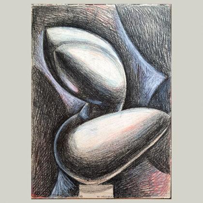 """""""Torso"""" 1959, pastelli colorati"""