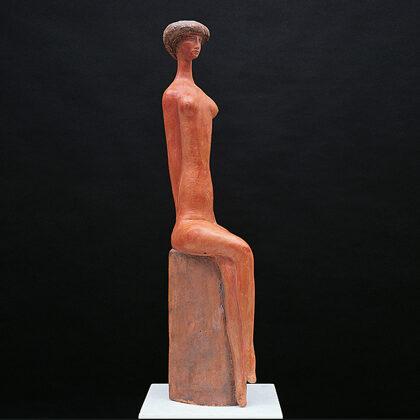 """Figura 1"" 1986 terracotta cm 48x13x10"