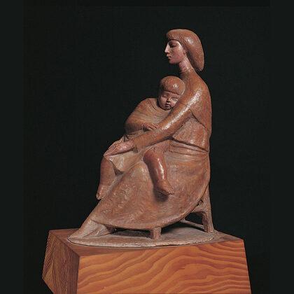 """""""Maternità"""" 1980 terracotta cm 26x27x20"""