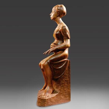 """""""Primo palpito"""" 1986 legno patinato cm 50x22x17"""