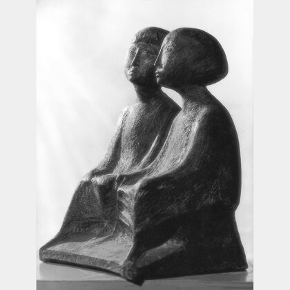 """""""Attesa"""" 1957 cemento cm 45x38x27"""