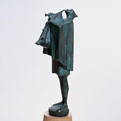 """Cornamusa"" 1965 bronzo cm 58x21x25"