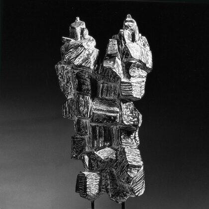 """""""I rocciatori"""" 1966 cemento cm 50x25x12"""