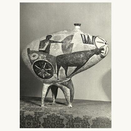 """Carro primordiale"" 1953 ceramica"
