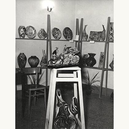 """""""Esposizione ceramiche"""" 1954 laboratorio di comiso"""