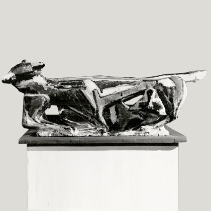 """Lotta di gatti"" 1954 ceramica"