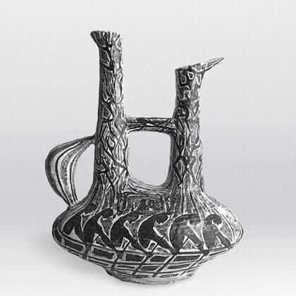 """""""Trireme"""" 1955 vaso in ceramica"""