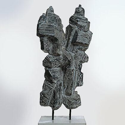"""""""I rocciatori"""" 1967 cemento cm 50x25x12"""