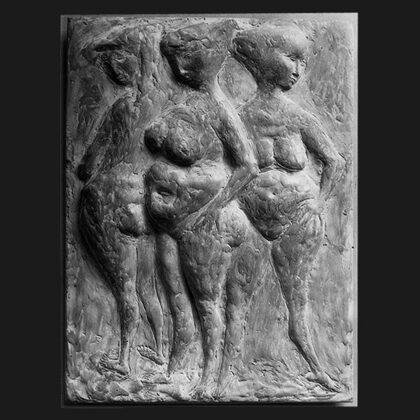 """Nudi"" 1951 terracotta"