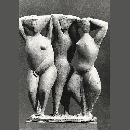 """""""Danza"""" 1950 terracotta, cm 34x24x16"""