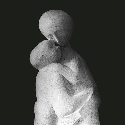 """""""Le sorelle"""", 1952, pietra, alla Prima mostra della pietra di Vicenza"""