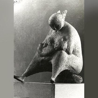 """""""Maternità"""" 1950 terracotta"""