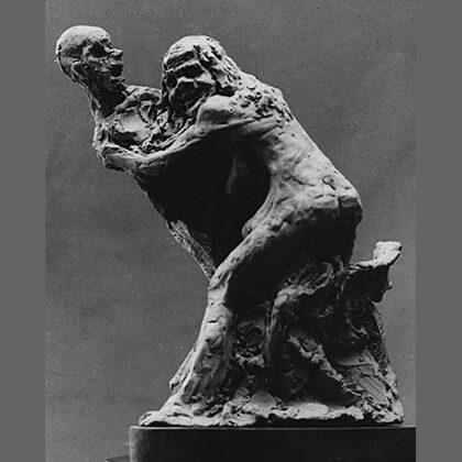 """""""La notte per gli ammalati"""" 1944 terracotta cm 25 x 12 x 12"""