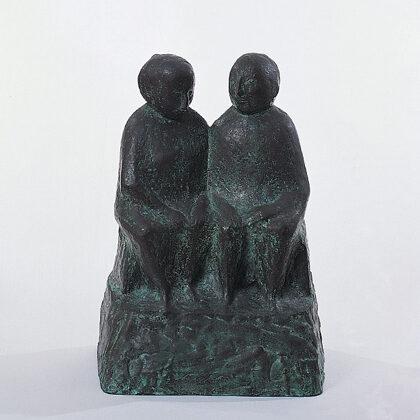 """""""Coniugi a riposo"""" 1951 bronzo cm 35 x 25 x 16"""