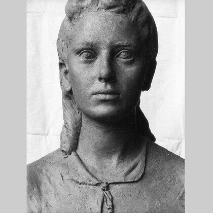 """""""Busto di ragazza"""" 1940 terracotta"""