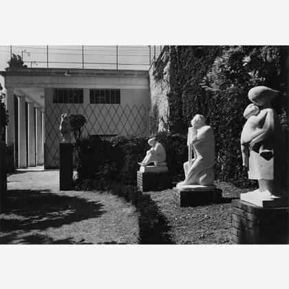 """""""Maternità"""", """"Il cavapietra"""", """"Le sorelle"""", 1952 alla Prima mostra della pietra di Vicenza"""