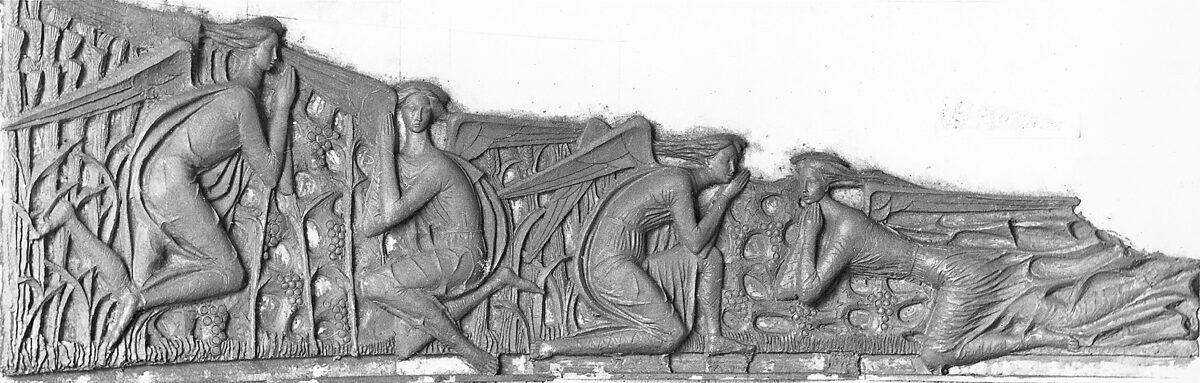 Giuseppe Micieli. Elemento scultoreo di separazione per la Cappella delle Suore di Clausura a Trani 1965. Ceramica cm 720 x 180